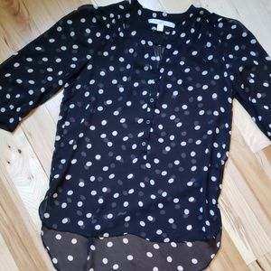 Womens polka dot blouse